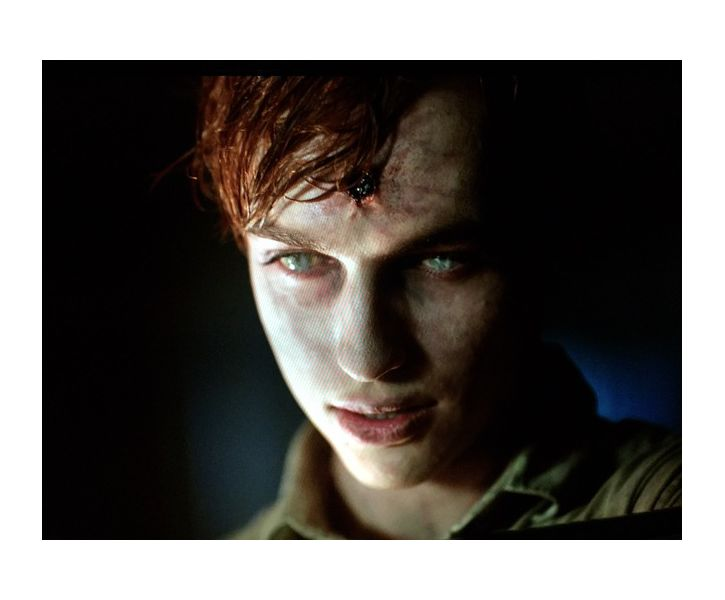 Bullet wound, ghoul makeup on Trevor Stines as Json Blossom, Riverdale, season one